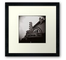 Batman @ the Blue Fox Framed Print
