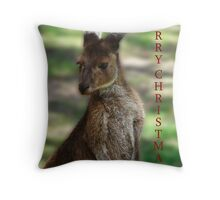 Kangaroo - Quindalup Fauna Park Throw Pillow