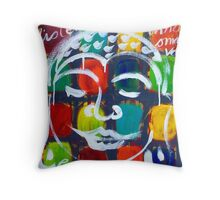 "BUDDHA  "" REALLY  LISTEN "" Throw Pillow"