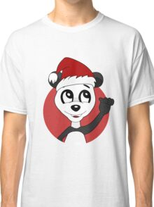 Cute Christmas panda bear cartoon Classic T-Shirt