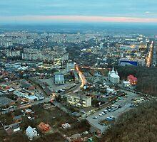 Panorama from Vinnytsya TV tower 2 by fine
