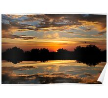 Sunset at the Pond Poster