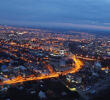 Panorama from Vinnytsya TV tower 3 by fine