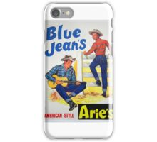Aries brand American style Blue Jeans 50s ad iPhone Case/Skin