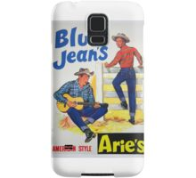 Aries brand American style Blue Jeans 50s ad Samsung Galaxy Case/Skin