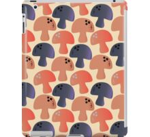 Champignon Mushrooms (Champignons) - Blue Red iPad Case/Skin