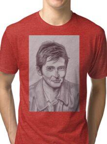 David Tennant  tenth Doctor Tri-blend T-Shirt