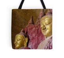 Two Happy Buddhas Tote Bag