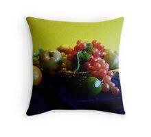 Basket with Fruit Throw Pillow