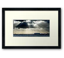 River Mersey and sunbeams Framed Print