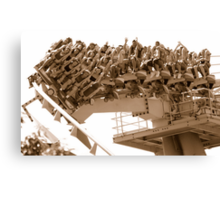 Fun on the Medusa—the world's first floorless coaster Canvas Print