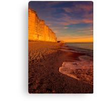 East Cliff Sunset Dorset 2 Canvas Print
