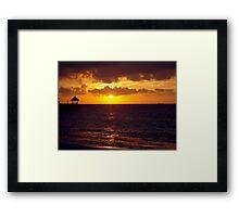 Sunset in Jamaica Framed Print