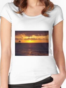 Sunset in Jamaica Women's Fitted Scoop T-Shirt