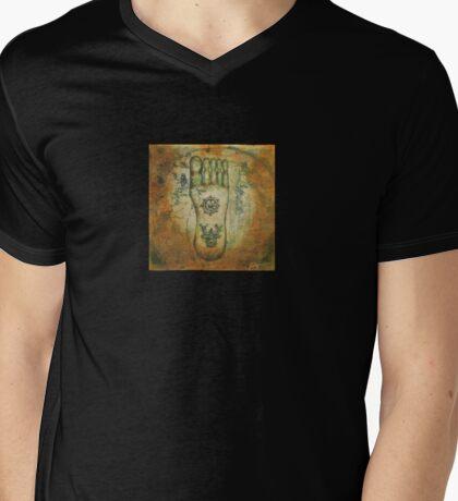 Buddhapada Mens V-Neck T-Shirt