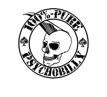 Pure Psychobilly - Black Stamp Photographic Print