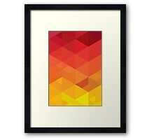fiery pattern Framed Print
