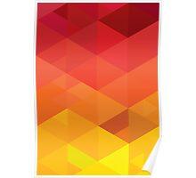 fiery pattern Poster