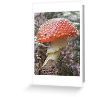 Red Mushroom Greeting Card