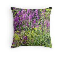Michigan Wild Flower Impression Throw Pillow