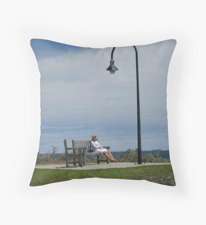 Lady Thinking  Throw Pillow