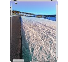 Winter wonderland, country road, vivid colors | landscape photography iPad Case/Skin