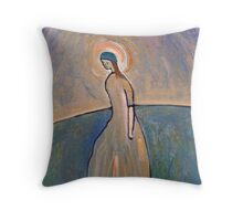A saintly woman Throw Pillow