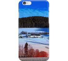 A sunny afternoon in winter wonderland | landscape photography iPhone Case/Skin