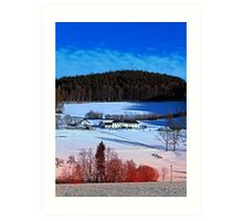 A sunny afternoon in winter wonderland | landscape photography Art Print