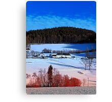 A sunny afternoon in winter wonderland | landscape photography Canvas Print