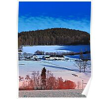 A sunny afternoon in winter wonderland | landscape photography Poster