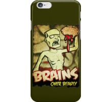 Brains Over Beauty iPhone Case/Skin
