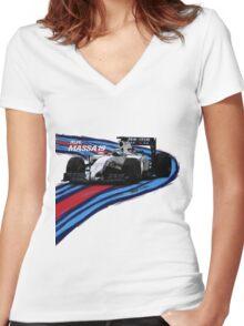 Williams Martini Racing Felipe19 Women's Fitted V-Neck T-Shirt