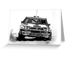 Lancia Delta Martini Greeting Card
