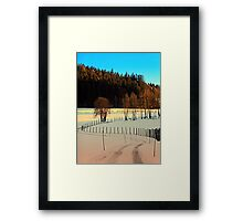 Hiking on a winter afternoon | landscape photography Framed Print