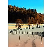 Hiking on a winter afternoon | landscape photography Photographic Print