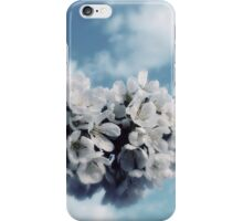 White flowers and blue skies. iPhone Case/Skin