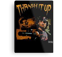 Thrash Snake Metal Print