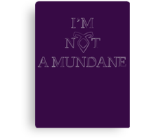 Not a Mundane Canvas Print