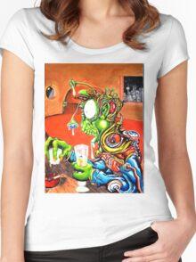 An Alien walks into a bar... Women's Fitted Scoop T-Shirt