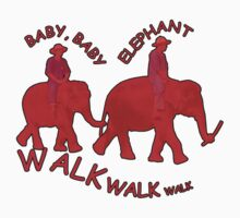 Orange Baby Elephant Walk by Keith Richardson