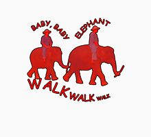 Orange Baby Elephant Walk Womens Fitted T-Shirt
