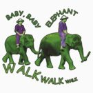 Green Baby Elephant Walk by Keith Richardson
