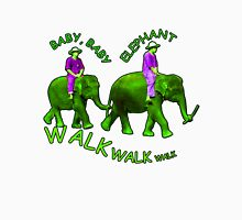 Green Baby Elephant Walk Womens Fitted T-Shirt