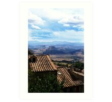 Roof top landscape, Italy  Art Print