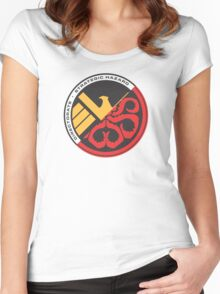 S.H.I.E.L.D. vs Hydra Women's Fitted Scoop T-Shirt