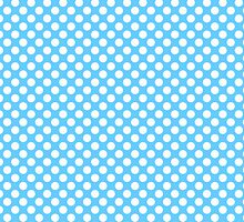 Light blue Turquoise white polka dots pattern by rubina