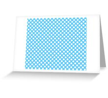 Light blue Turquoise white polka dots pattern Greeting Card