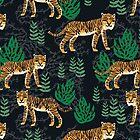 Safari Tiger Pattern by Andrea Lauren by Andrea Lauren