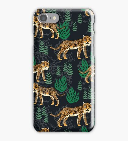 Safari Tiger Pattern by Andrea Lauren iPhone Case/Skin